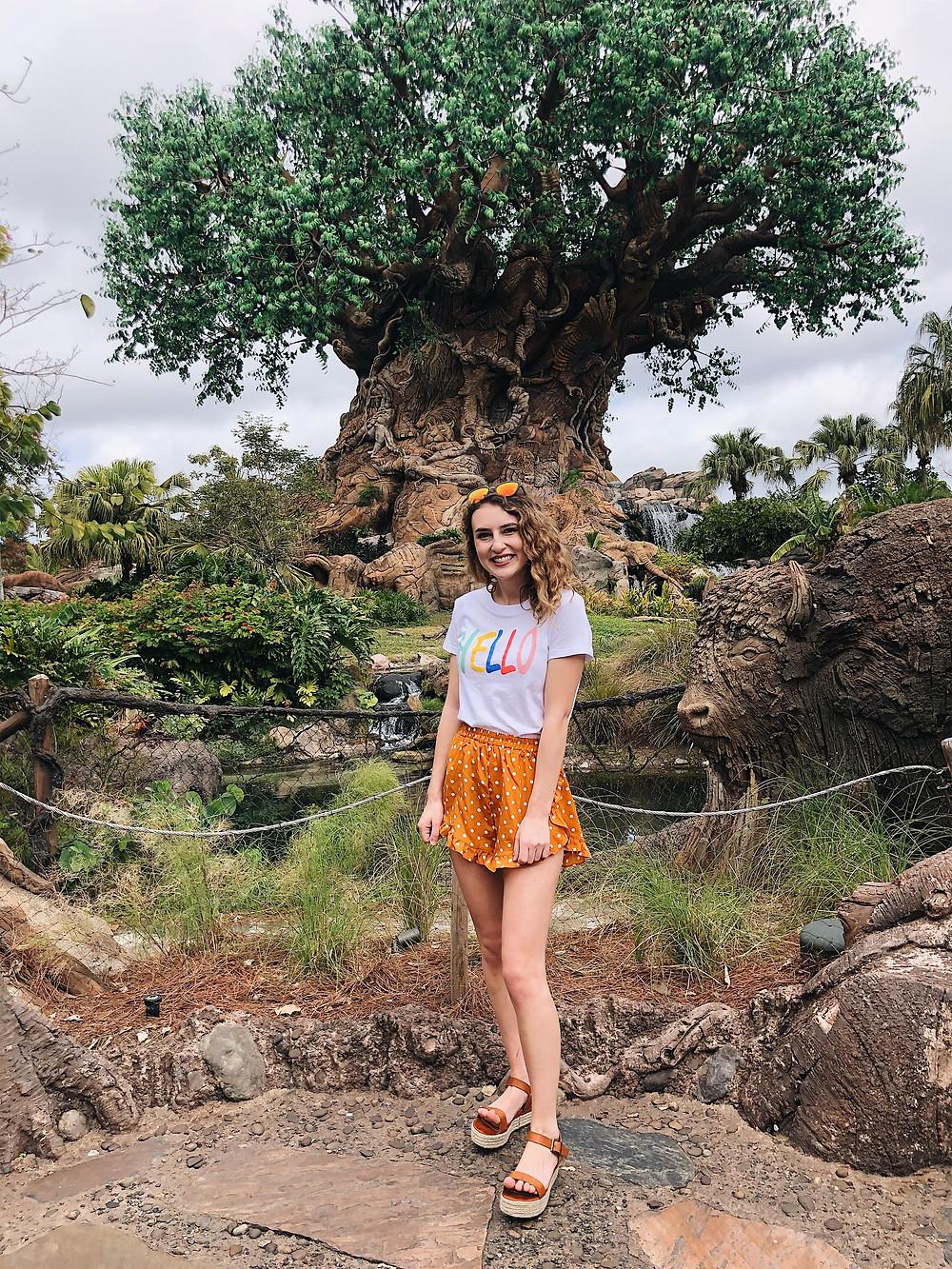 Abby Graf 2019, polka dot shorts, animal kingdom