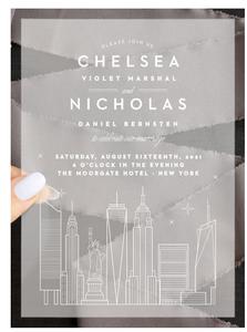 Basic Invite NYC Skyline Clear Wedding Invite