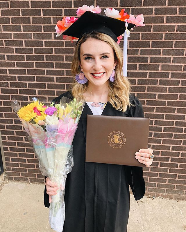 Abby Graf, the bleached curl, college graduation