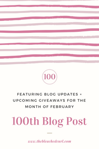 100th blog post, giveaways, updates