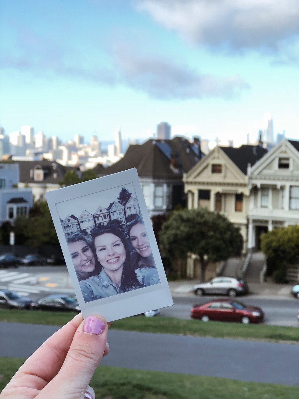polaroid shot at the painted ladies