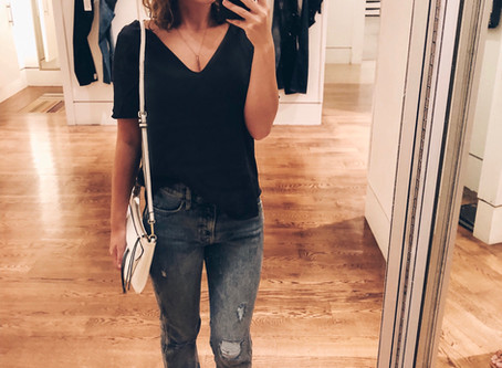 An Easy and Affordable Shopping #OOTD and a List of My Favorite Gap Sale Jeans