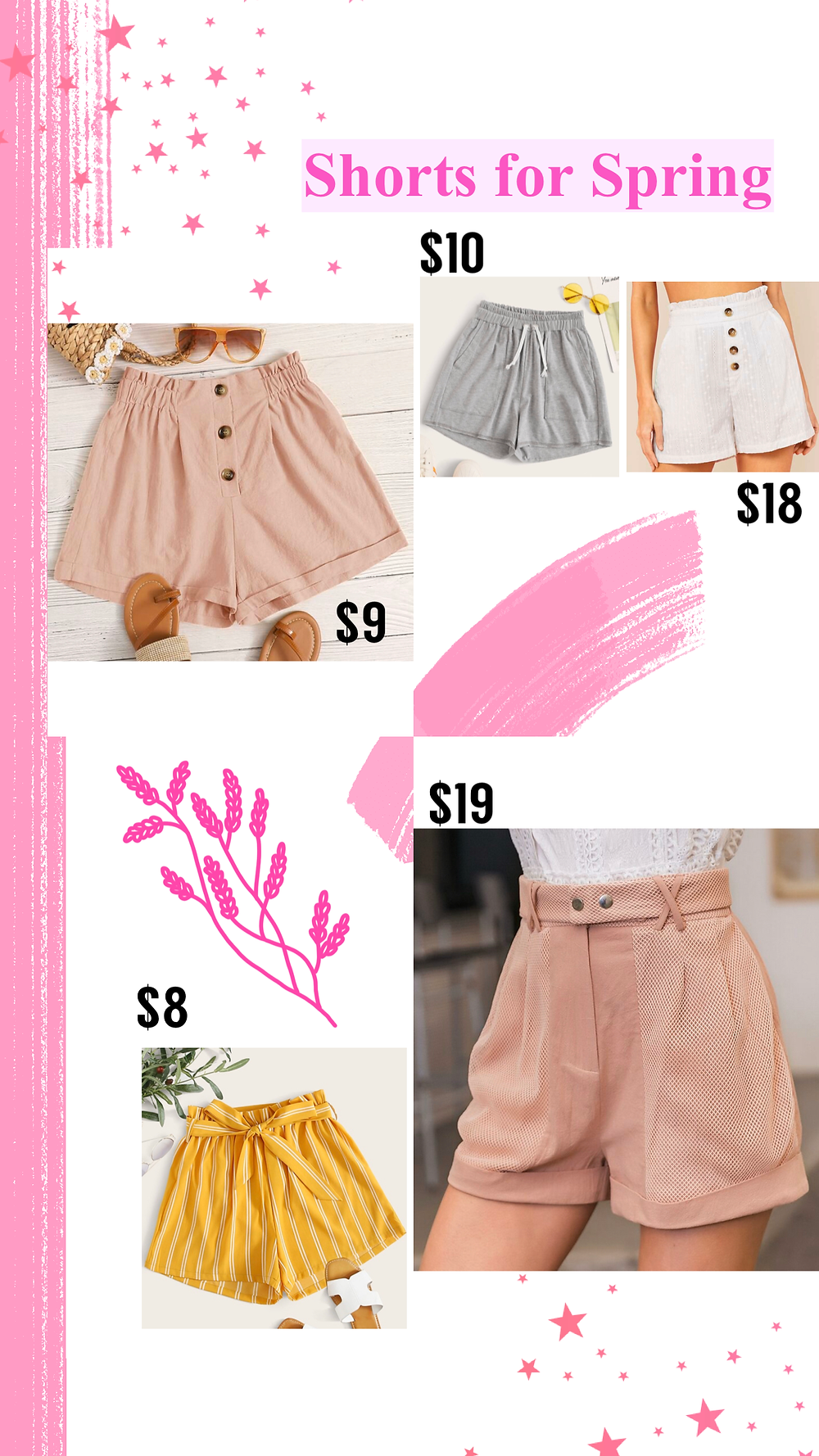 Affordable cute shorts for spring from Shein