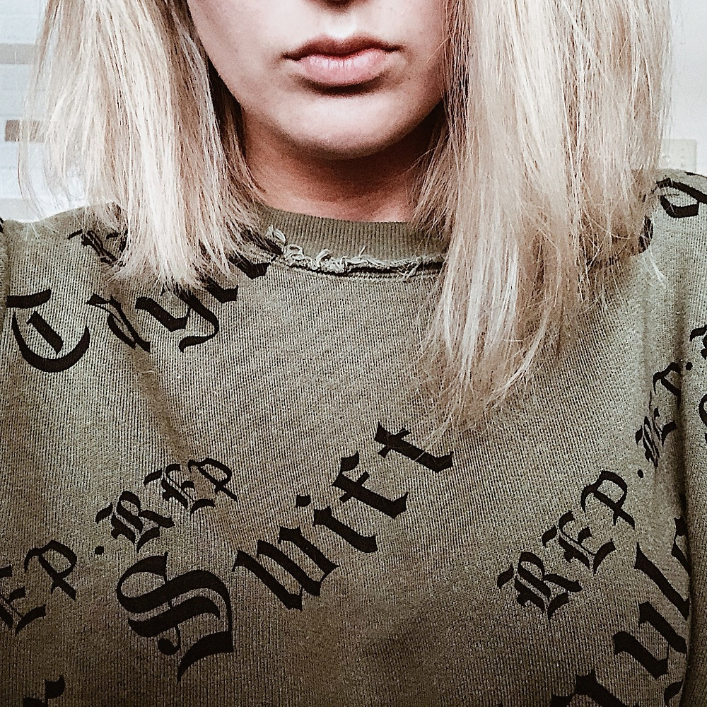 Taylor Swift Reputation Merch Olive Green Sweater