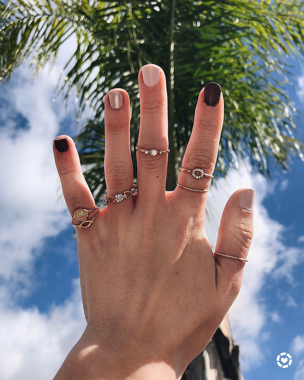 SHein rings, manicure, abby graf, the bleached curl