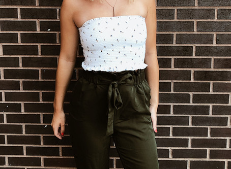 How To Style Tie-Waist Pantsin a Late Summer Transition Outfit