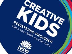 Creative kids vouchers available