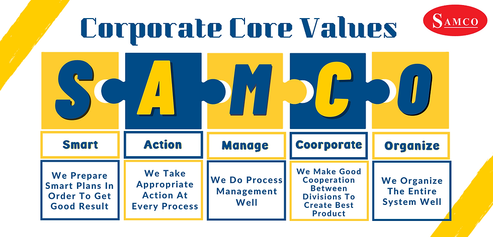 corporate values samco farma
