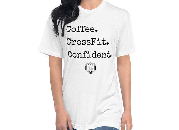 Coffee CrossFit Confident Unisex Crew Neck Tee
