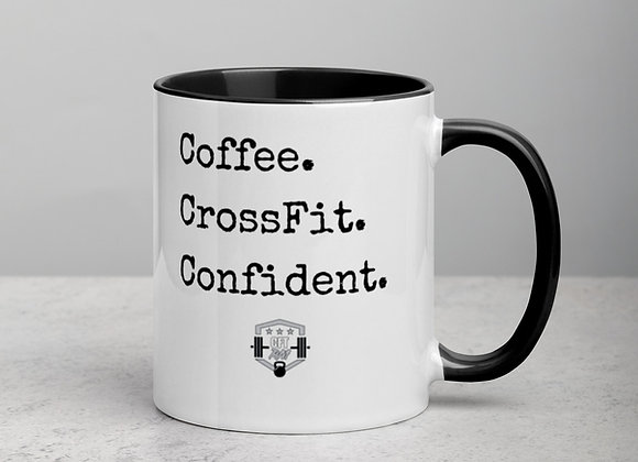 Coffee CrossFit Confidence Mug with Color Inside