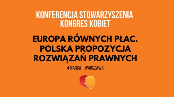 Europa równych płac. Polska propozycja r