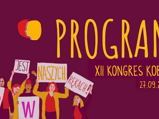 Program XII Kongresu Kobiet - 27 września