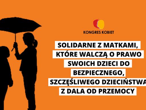 Stanowisko Kongresu Kobiet wobec proponowanych zmian w Kodeksie Rodzinnym i Opiekuńczym i Karnym.