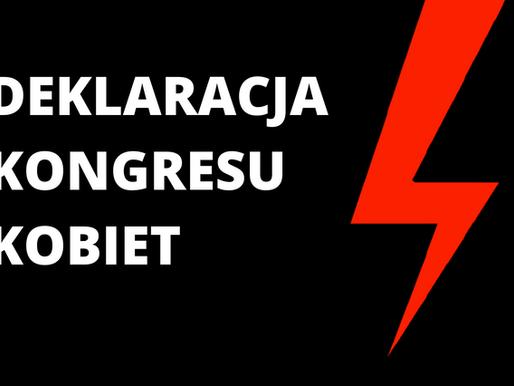 DEKLARACJA KONGRESU KOBIET