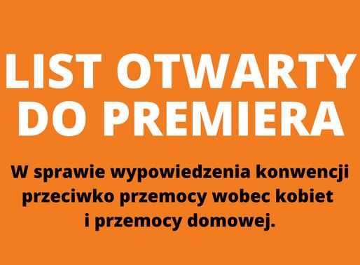 List Rady Kobiet do Premiera.