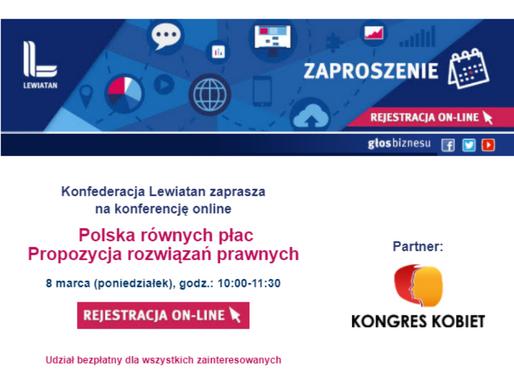 Konferencja online: Polska równych płac