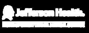 Jefferson Health Logo (White)