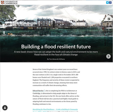 Featured in Cambridge Article 'Building a Flood Resilient Future'