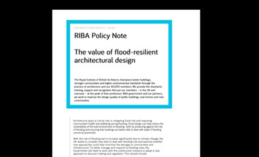 Featured in RIBA Policy Note 'The value of flood-resilient architectural design'