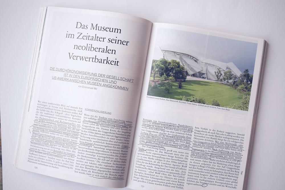 Kunstforum International, Museumsboom, Museumskrise, Chance