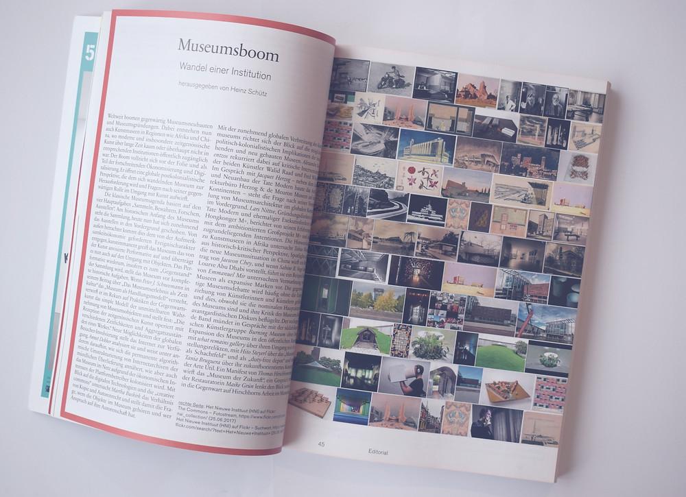 Kunstforum International, Ausgabe zum Thema Museum im Wandel.