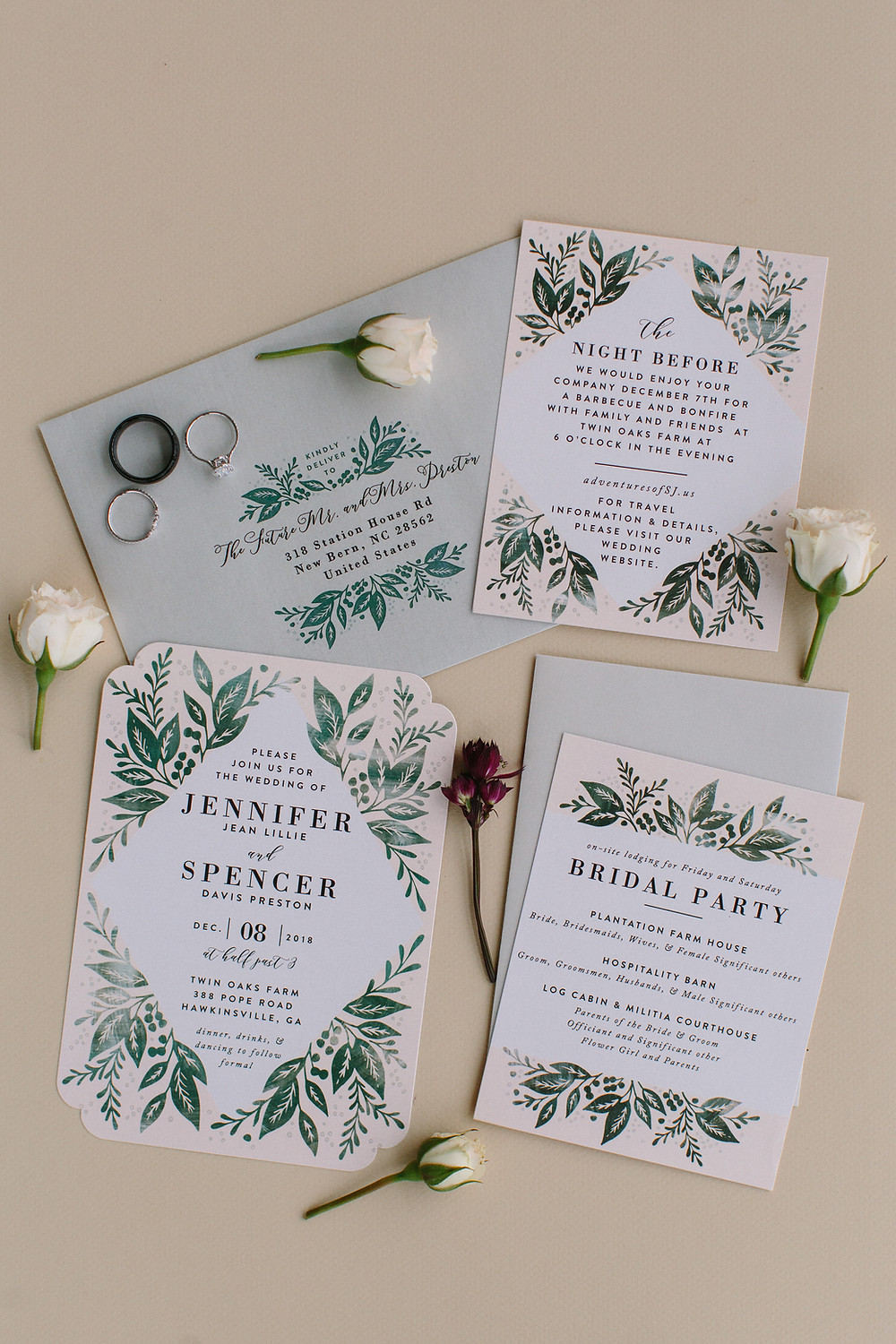Wedding Invitation Suite | Two Chics Photography