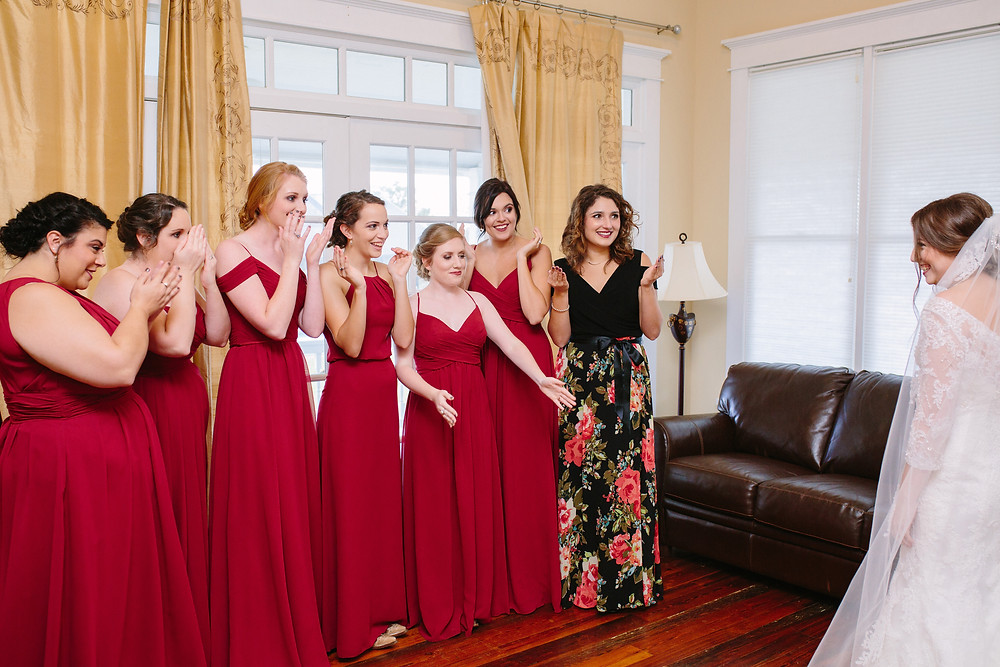 First Look with Bridesmaids 2