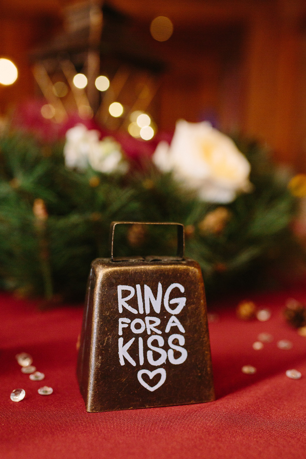 Ring for a Kiss bell  | Two Chics Photography
