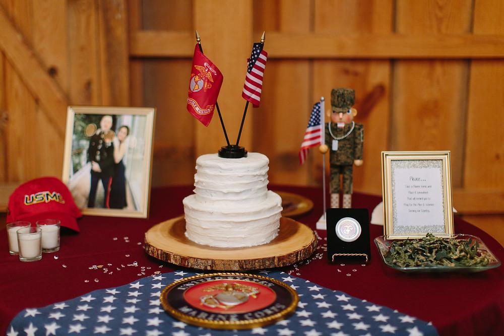 Marine Wedding Cake  | Two Chics Photography