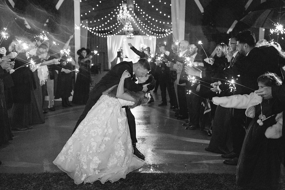 Sparkler Exit | Two Chics Photography