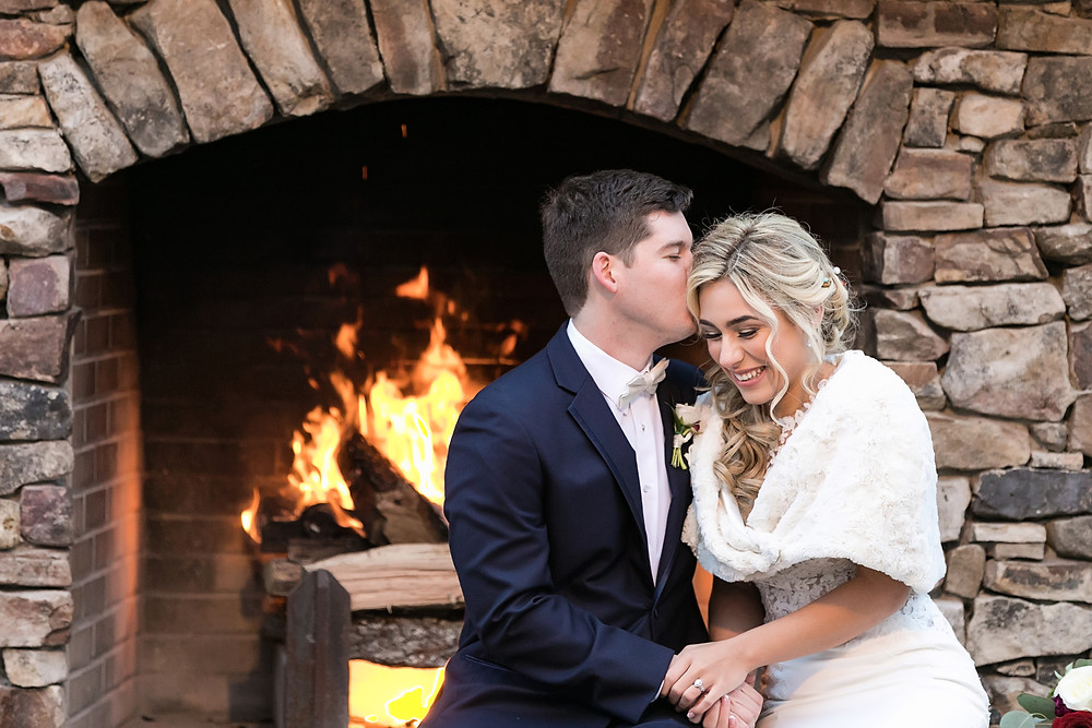 Bride and Groom Fireside