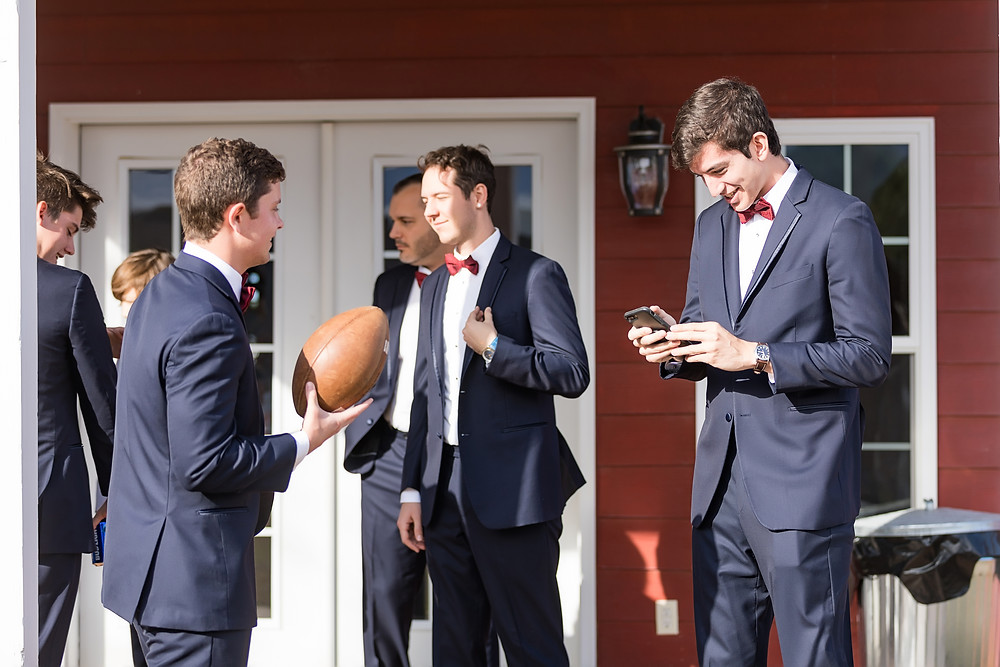 Groomsmen at Hospitality Barn