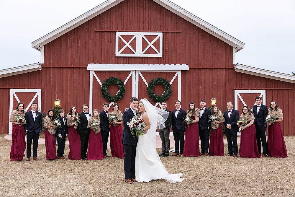 Wedding Party at Grand Barn