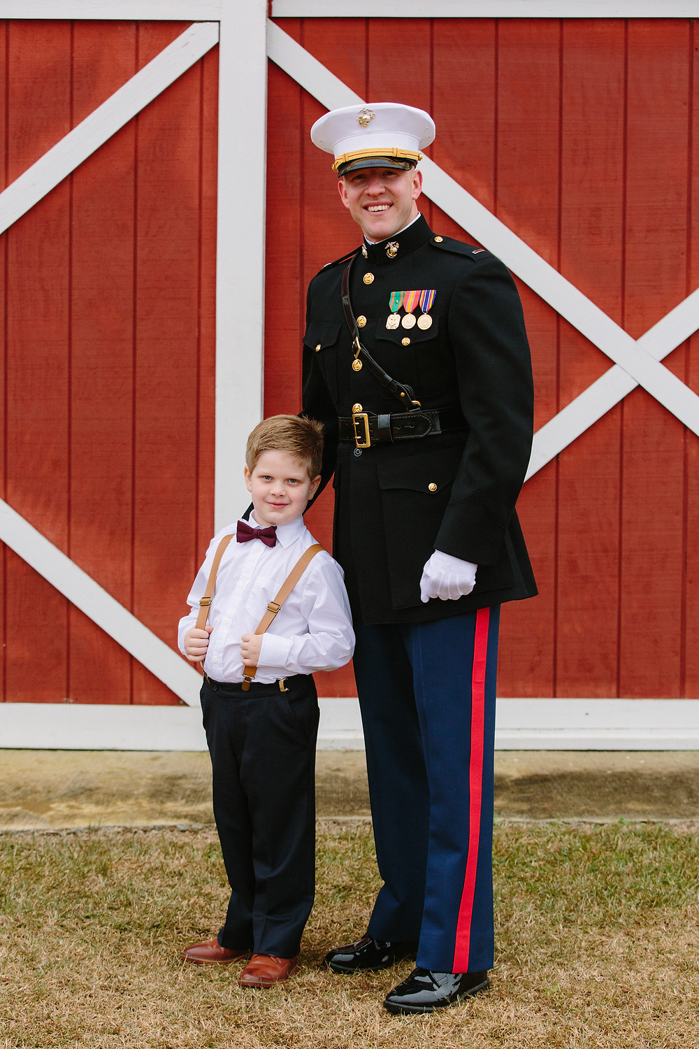 Groom and Ring Bearer  | Two Chics Photography