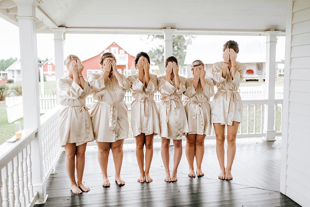 First Look Bridesmaids (c) AshlynCatheyPhoto