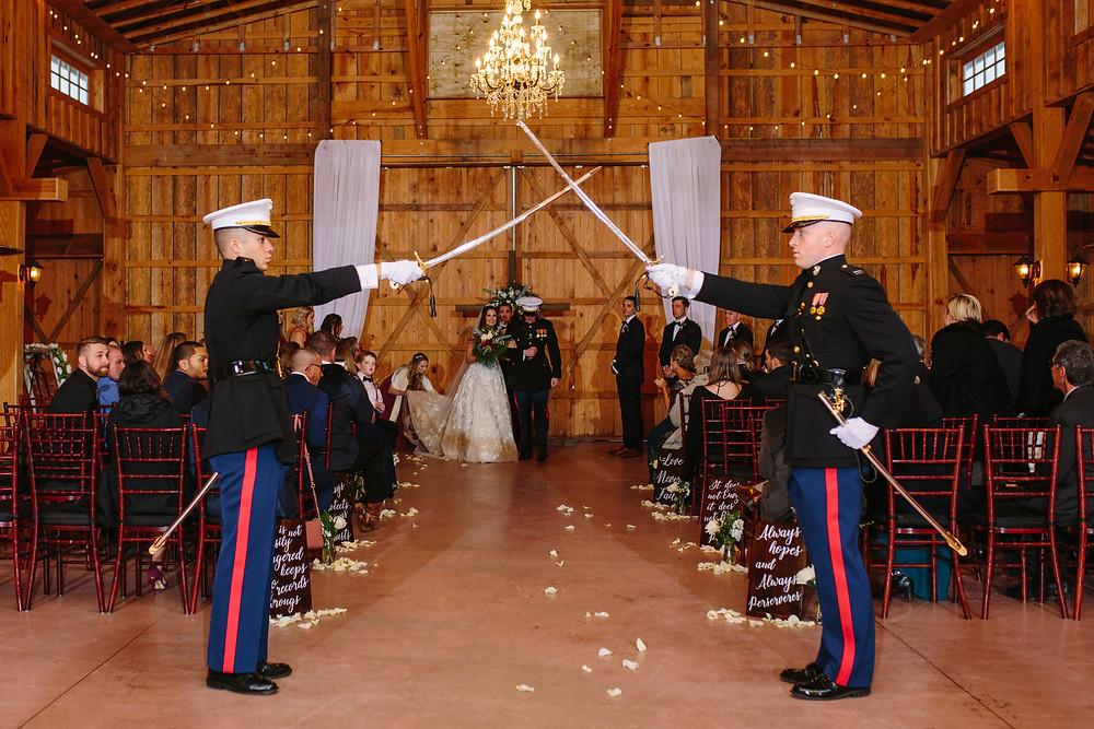 Marine Sword Ceremony  | Two Chics Photography
