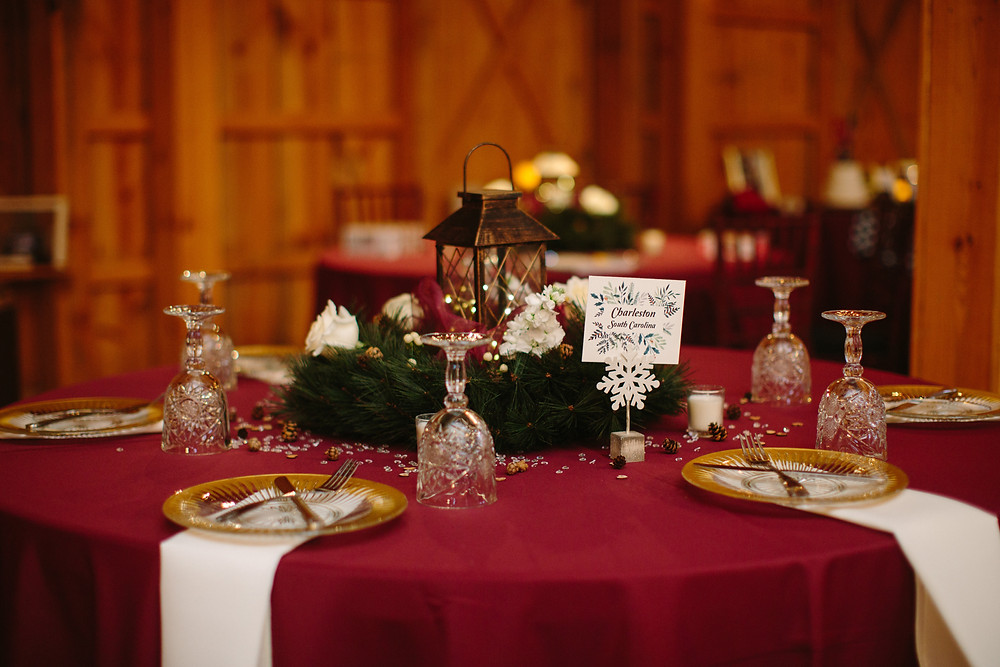 December Wedding Tablescape  | Two Chics Photography