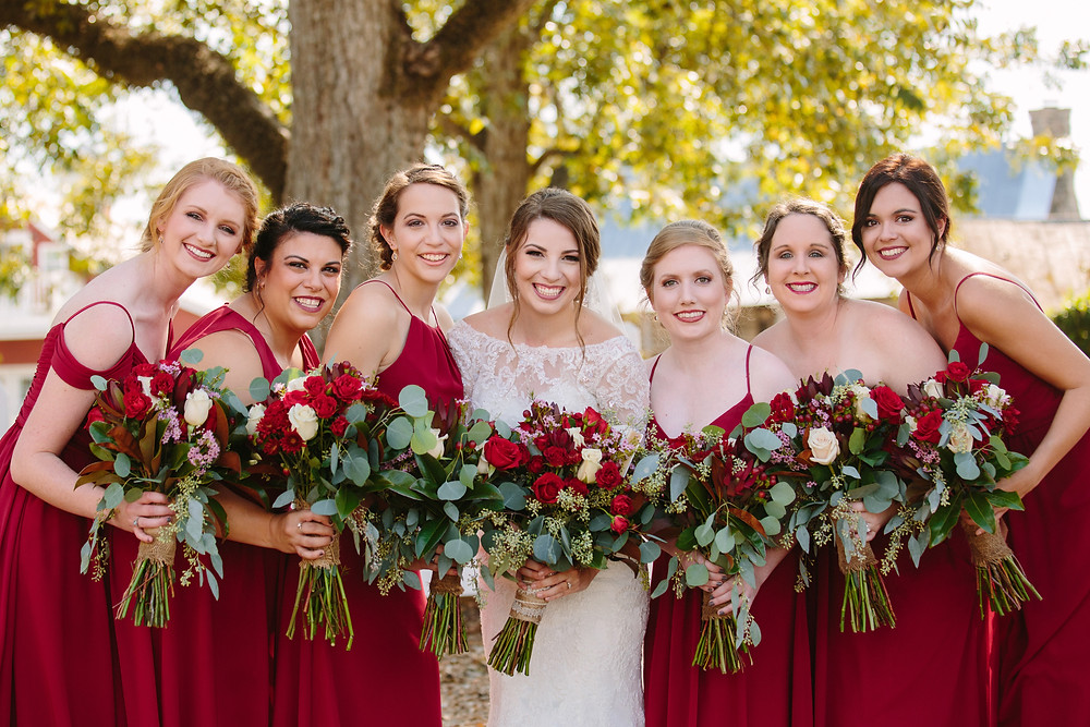 Caitlin and Bridesmaids