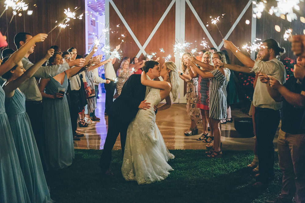 Sparkler Exit (c)Amber Phinisee Photography