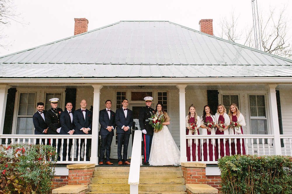 Wedding Party at Farmhouse | Two Chics Photography