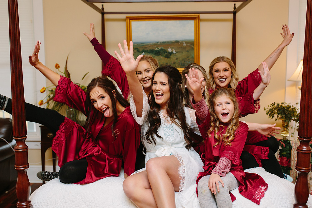 Bridesmaids and Bride Getting Ready  | Two Chics Photography