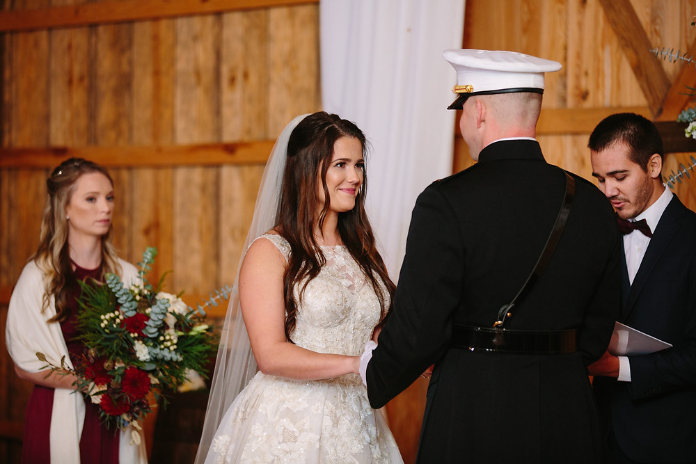 Ceremony in Grand Barn    Two Chics Photography