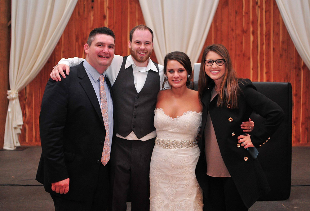 Lindsay+Brandon with couple