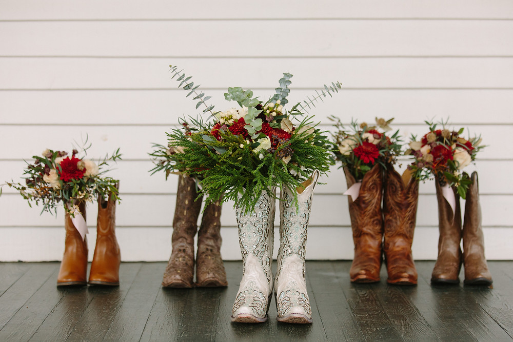 Boots and Bouquets | Two Chics Photography