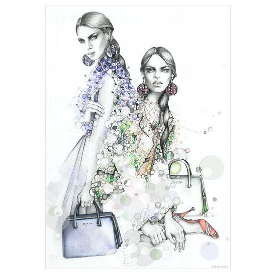 TANZANITE Fashion illustration
