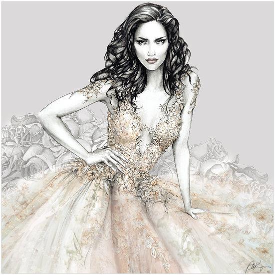 LILY Fashion Illustration 40x40cm