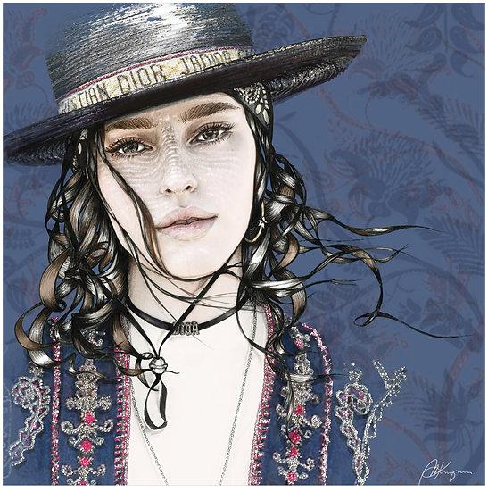 Sauvage Fashion Illustration 40x40cm