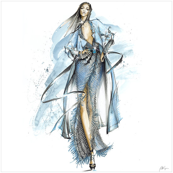 FASHION FIGURINE 5 Fashion Illustration 40x40cm