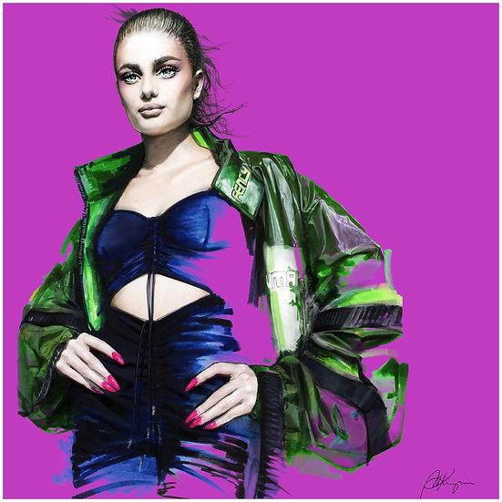 Sporty Fashion Illustration 40x40cm
