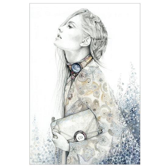 PEARL Fashion illustration 50x70cm